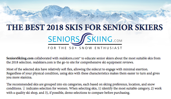 Skis For Seniors Recommendations
