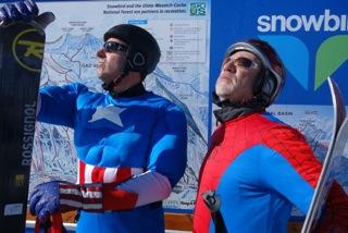 Why not ski in costume? Credit: Jon Weisberg