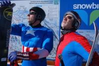 Skiing Super Heroes!!