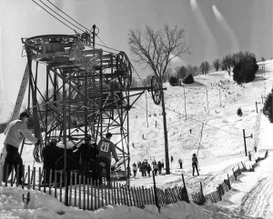 Suicide Six also had a Poma lift Credit: New England Ski Museum