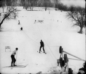 Rope Tow at Woodstock, VT. Credit: New England Ski Museum