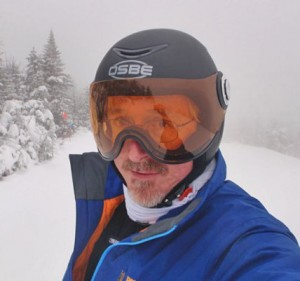 The Osbe's visor allows a flow of air to evaporate fog. Credit:  Michael Conley