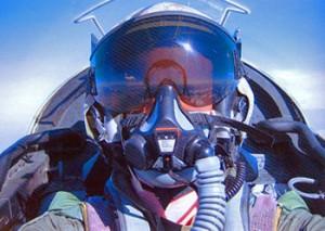 Admit it.  Navy pilot helmets are cool.  Check that visor. Credit: Andrea Salimbeti
