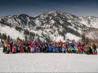 70+Ski Club Gathers At Snowbasin, UT.  Clubs are a natural magnet for senior skiers. Credit: DailyHerald.com