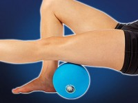 A massage ball can really concentrate gentle pressure on knots. Credit: Pro-tecathletics