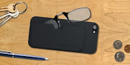 ThinOptics super-convenient reading glasses can be stowed with your phone! Credit: ThinOptics