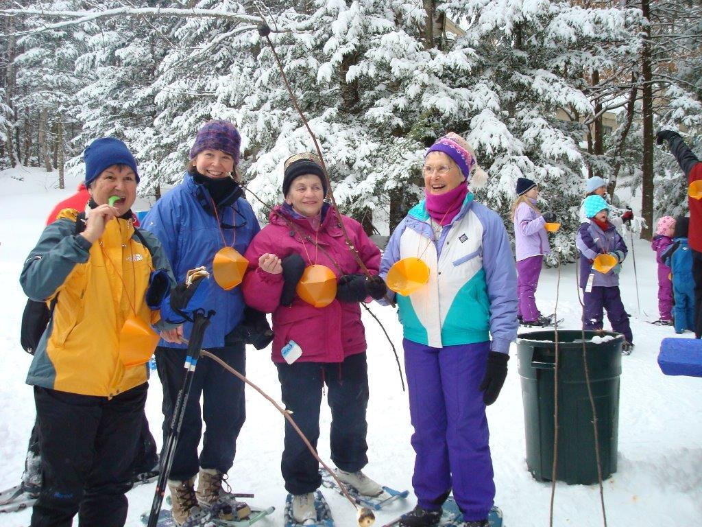 Munching along at Eastman's outdoor ski party. Credit: Roger Lohr
