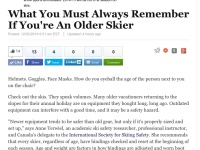 Huff Post: What Senior Skiers Must Remember