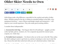 Huff Post: Essential Gear Senior Skiers Need To Carry