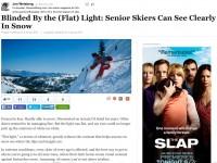 Huff Post: Skiing With Senior Eyes