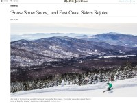 Come On Over, Western Skiers: Eastern Snow Is Epic