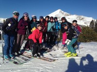 Ski Divas gathered in Montana this year.  Clear skies and clearly fun. Credit: The Ski DIva