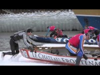 More Ice Canoe Racing On The St. Lawrence