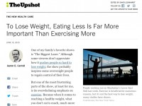 Exercise And Weight Control: Think Again