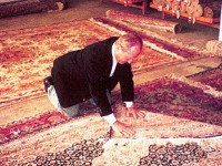 Snowbird founder Dick Bass had a fabulous collection of oriental rugs. Credit: Harriet Wallis