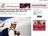 Dick Bass, Skiing Visionary, Dies At 85