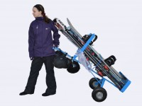 Tip and roll the Ski Dolly away with some help from physics and gravity. Credit: Ski Dolly