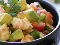 In this Zesty Lime, Shrimp and Avocado Salad recipe, healthy avocados play a starring role! (Credit: skinnytaste.com)