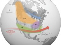 Winter forecast 2015-16 shows how the jet stream funnels warm air across the  southern US. Credit: NOAA/NWS
