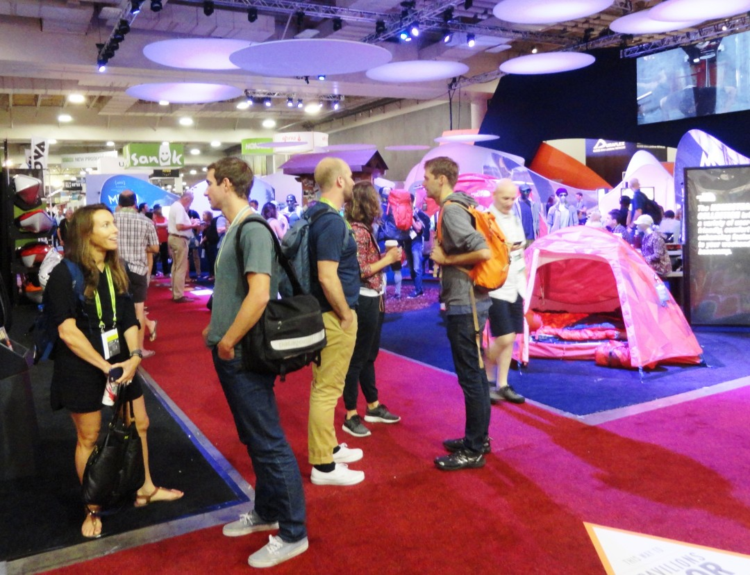 Outdoor Retailers Show in Salt Lake is the largest outdoor sports show of its kind. Credit: Harriet Wallis