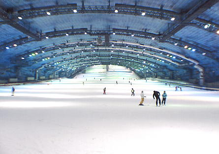 SSAWS (Spring, Summer, Autumn, Winter Skiing) Indoor Ski Dome outside Tokyo.