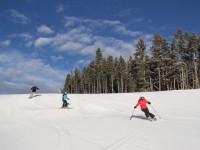Many senior skiers like wide groomers.  Big Sky has some beauts. Credit: Greg Burke www.luxuryskitrips.com