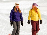 Woodstock Inn attracts women snowshoers who can step along in women-only gear. Credit: Woodstock Inn