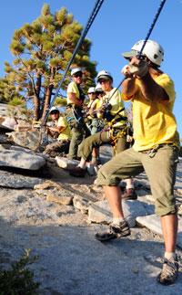 A SAR team practices at Yosemite. Credit: US Park Service