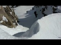 Down Corbet's Couloir At Jackson Hole