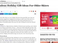 Huff Post: Fabulous Holiday Gift Ideas For Older Skiers