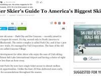 Huff Post: Older Skier's Guide To America's Biggest Ski Resort