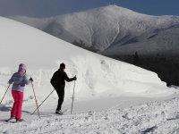 Nordic trails offer views of Mt. Washington at Bretton Woods. Credit: Bretton Woods