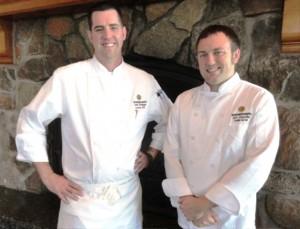 Snowbasin Executive Chef Scott Sniggs (l) with Executive Sous Chef Aric Glanville. Credit: Harriet Wallis