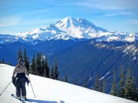 SeniorsSkiing Guide: It's Hard To Beat Crystal Mountain On A Sunny Day
