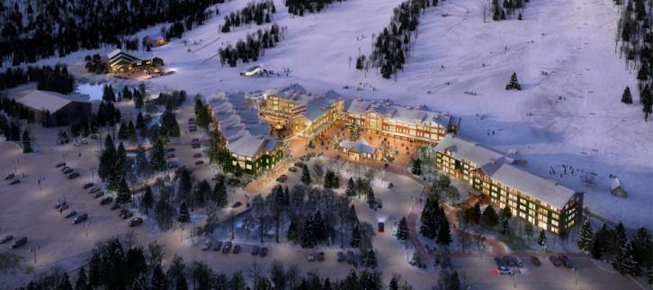 The future of Cranmore includes a condo development and lodge area. Credit: Cranmore