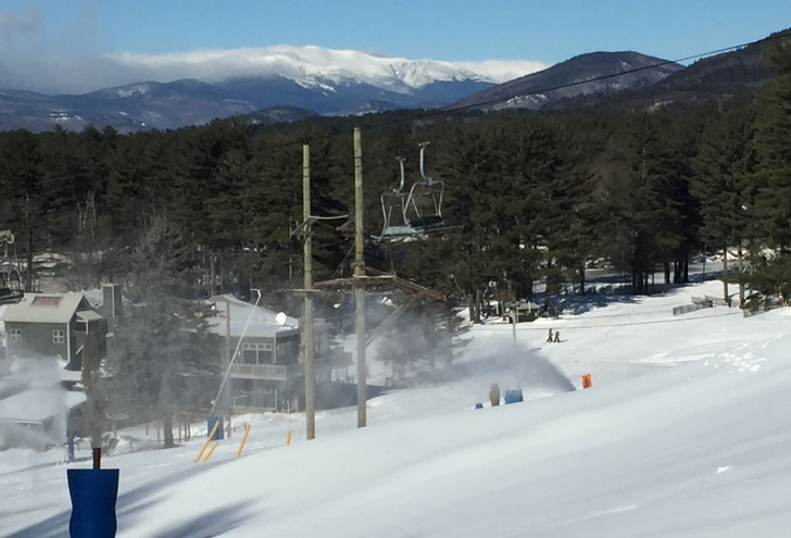 Cranmore's view of Mt. Washington. Since 1937, Cranmore has been one of the classic New England resorts. Credit: SeniorsSkiing