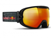 These cool looking goggles flip up and they're made of the same super tough material. Credit: Red Bull Racing