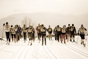 You can get those four-pin bindings and leather boots out and wax up your wooden skis for the TFL's antique ski race. Credit: Trapp Family Lodge