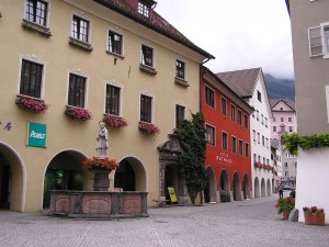 Alpine town Bludenz, long a skiing and hiking center in the Voralberg.