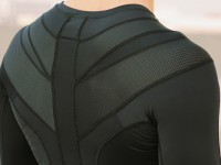 Intelliskin Compression Shirt has a certain Batman look, doesn't it? Credit: Intelliskin