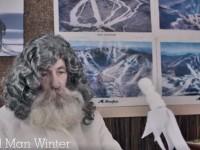 Killington gives Old Man Winter a little feedback.  Credit: Killington Resort