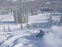 Pow-ing down to the Sugar Bowl village. Always lots of snow for playing. Credit: Sugar Bowl