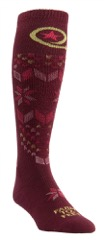 Here's a pair of women's socks: over the calf, compression, lightweight. Credit: Farm To Feet