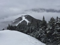 Gore Mountain Resort is headquarters for the Back Country Ski Club. It's not always this foggy. Credit: Pat McCloskey