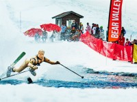 Bear Valley Pond Skimming.  Silly season is in out in happy, snow-filled California. Credit: Steve Peixotta/ Bear Valley