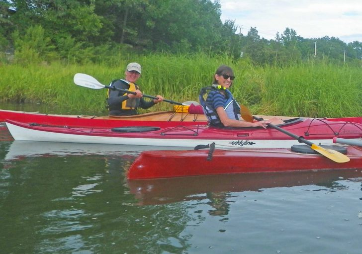 Kayaking is a perfect non-snow season sport for seniors. Outdoors, exercise, skill, and cool equipment combine to make an attractive sport. Credit: Tamsin Venn