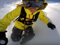 Woweee. Lynsey Dyer having a blast in a Chilean snowfield. Credit: GoPro
