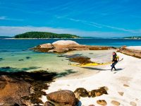 The coast of Maine has hundreds of beautiful islands that can be visited by kayak. MITA can tell you where and how to do it. Credit: Tamsin Venn