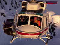 Heli-Skiing in the Canadian Rockies: A peak skiiing experience. Credit: CMH