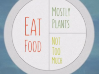 Pollan's seven word rule for selecting and consuming food.  Makes sense.